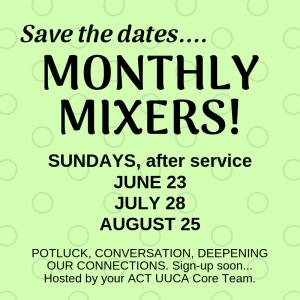 ACT Monthly Mixer @ Sanctuary
